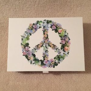 Floral Peace Sign 12 Note Card Boxed Set NWT